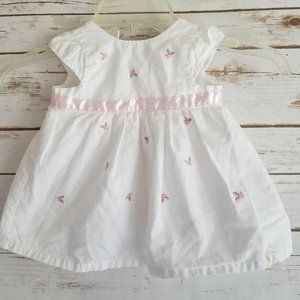 Little Me Embroidered Floral Dress